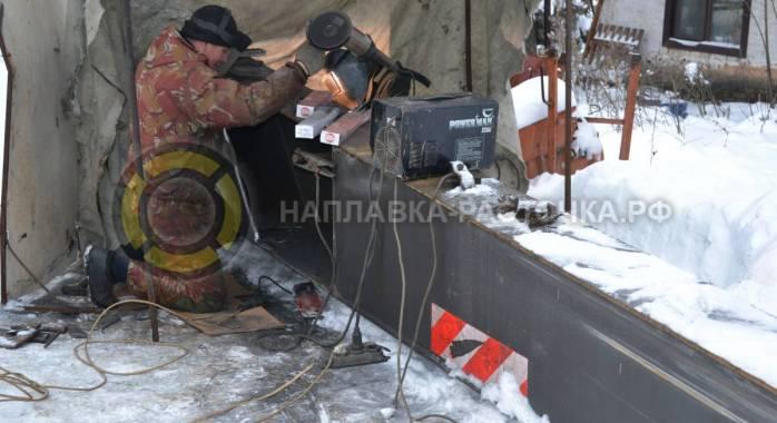 Восстановление металлоконструкции рукояти экскаватора VOLVO (без латок) | Компания Weldbore © 2018