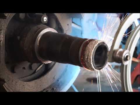 Embedded thumbnail for Автоматическая наплавка и расточка полуосей грузового автомобиля MACK